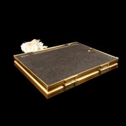 Obiecte bisericesti | Rama foto din plastic auriu | 3505