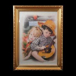 Obiecte bisericesti | Rama foto din plastic auriu | 3522