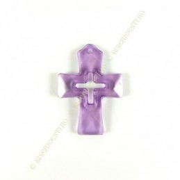 Obiecte bisericesti | Medalion cruce de plastic transparent 55mm | 2005