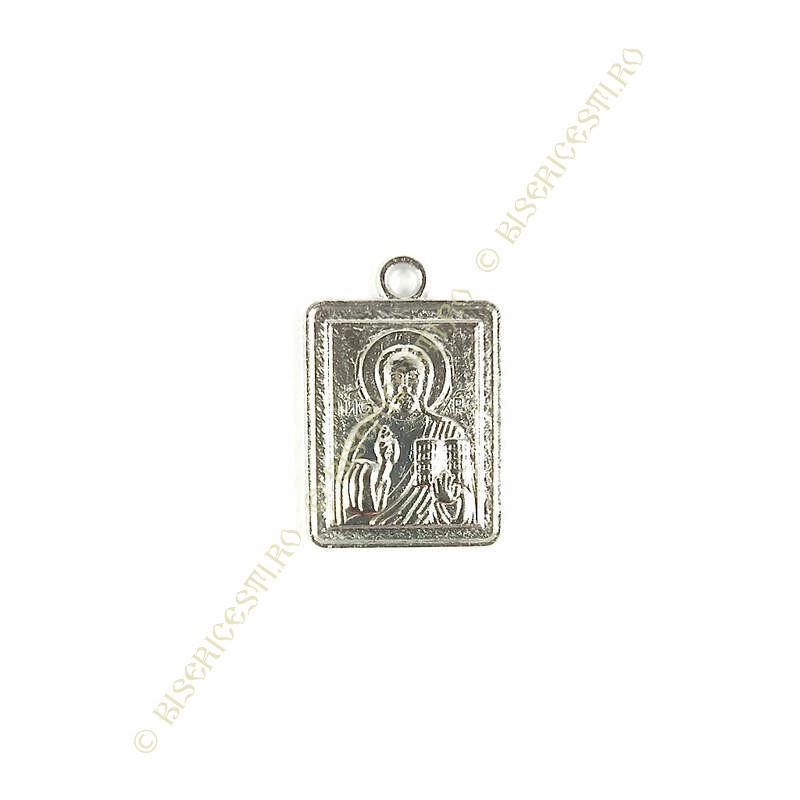 Obiecte bisericesti | Medalion icoana metalica argintie 20mm | 2013