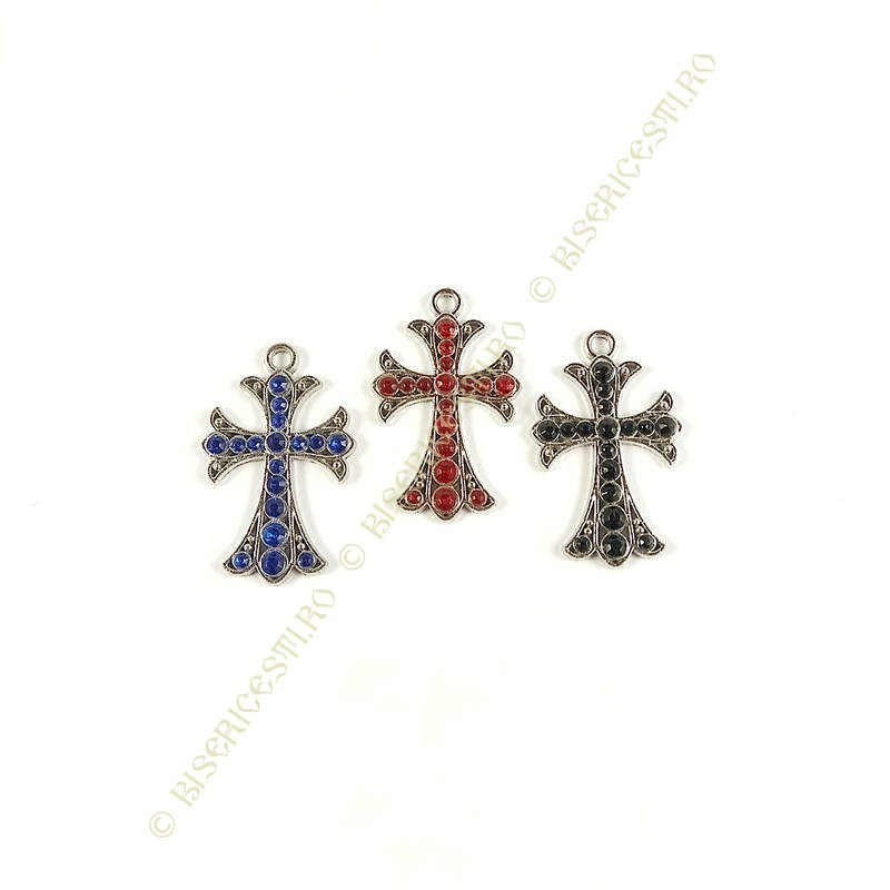 Obiecte bisericesti | Medalion cruce  metalica filigranata 32mm | 2015