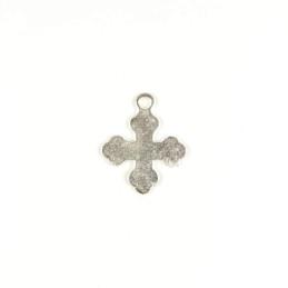 Obiecte bisericesti | Medalion cruce metalica argintie 35mm | 2016