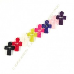 Obiecte bisericesti | Medalion cruce de plastic colorat 35mm | 2018