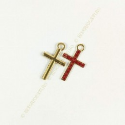 Obiecte bisericesti | Medalion cruce metalica aurie sau argintie 29mm | 2021