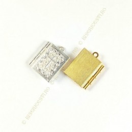 Obiecte bisericesti | Medalion tip biblie metalica  26mm | 2022