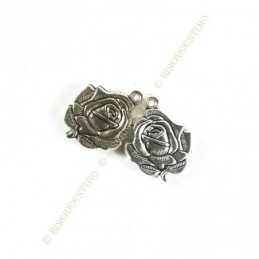 Obiecte bisericesti | Medalion trandafir metalic argintiu 35mm | 2031