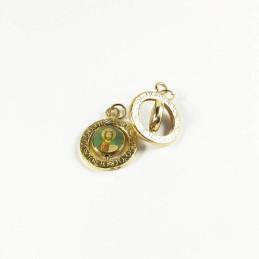 Obiecte bisericesti | Medalion icoana metalic auriu 18mm | 2033