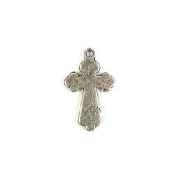 Obiecte bisericesti | Medalion cruce metalica argintie 25mm | 2042