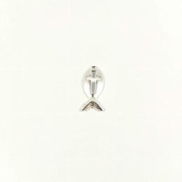 Obiecte bisericesti | Medalion cruce metalic argintiu 20mm | 2056