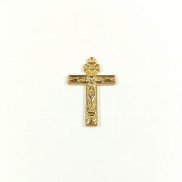 Obiecte bisericesti | Medalion cruce metalica aurie 30mm | 2062