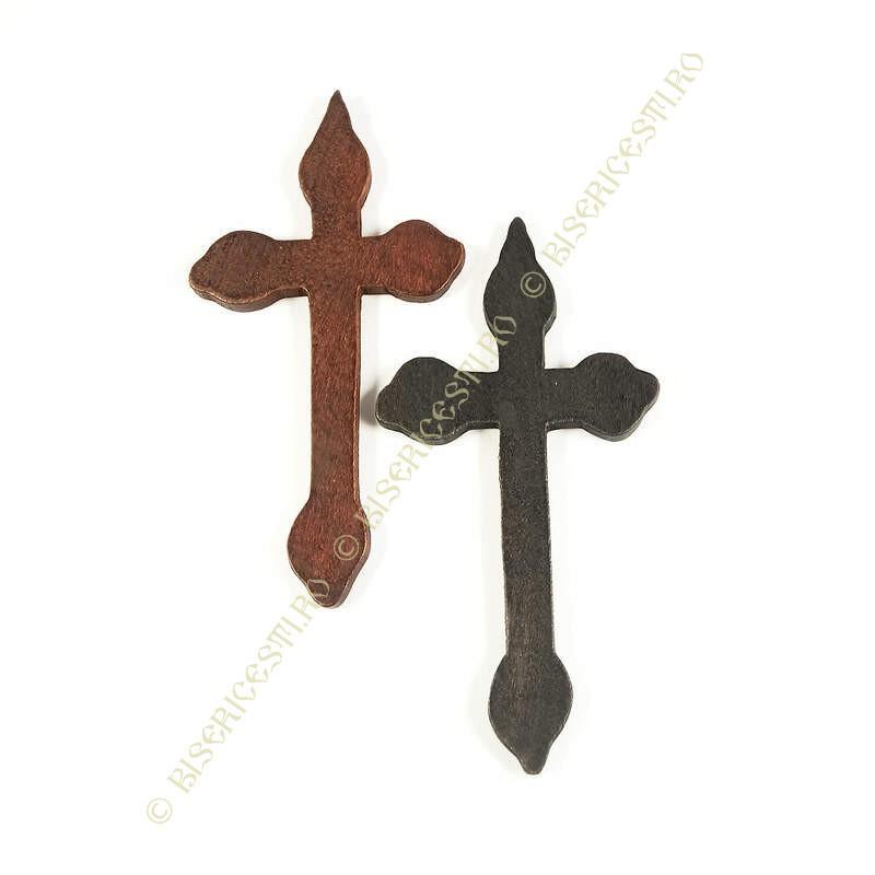 Obiecte bisericesti | Medalion cruce de lemn 12cm | 2067