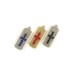 Obiecte bisericesti | Medalion cruce metalica aurie argintie 25mm | 2071
