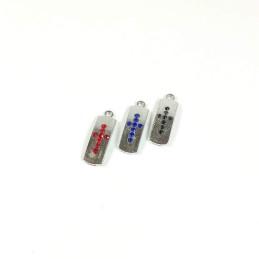 Obiecte bisericesti | Medalion cruce metalica argintie 25mm | 2073