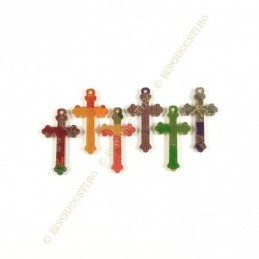 Obiecte bisericesti | Medalion cruce de plastic 35mm | 2078