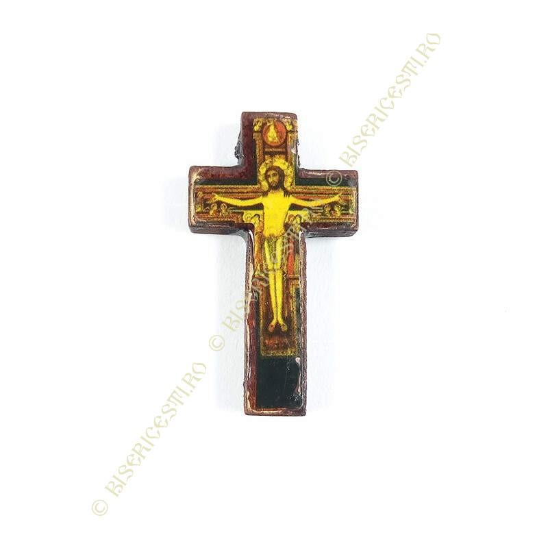Obiecte bisericesti | Medalion cruce de lemn 40mm | 2079