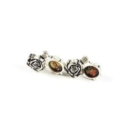 Obiecte bisericesti | Medalion trandafir metalic argintiu 20mm | 2081