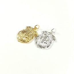 Obiecte bisericesti | Medalion scut metalic auriu sau argintiu 30mm | 2083