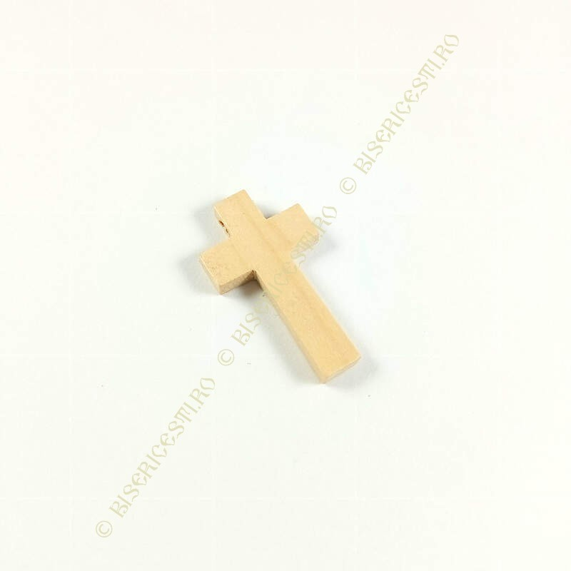Obiecte bisericesti   Medalion cruce de lemn 42mm   2085