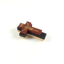 Obiecte bisericesti | Medalion cruce de lemn lacuit 32mm | 2087