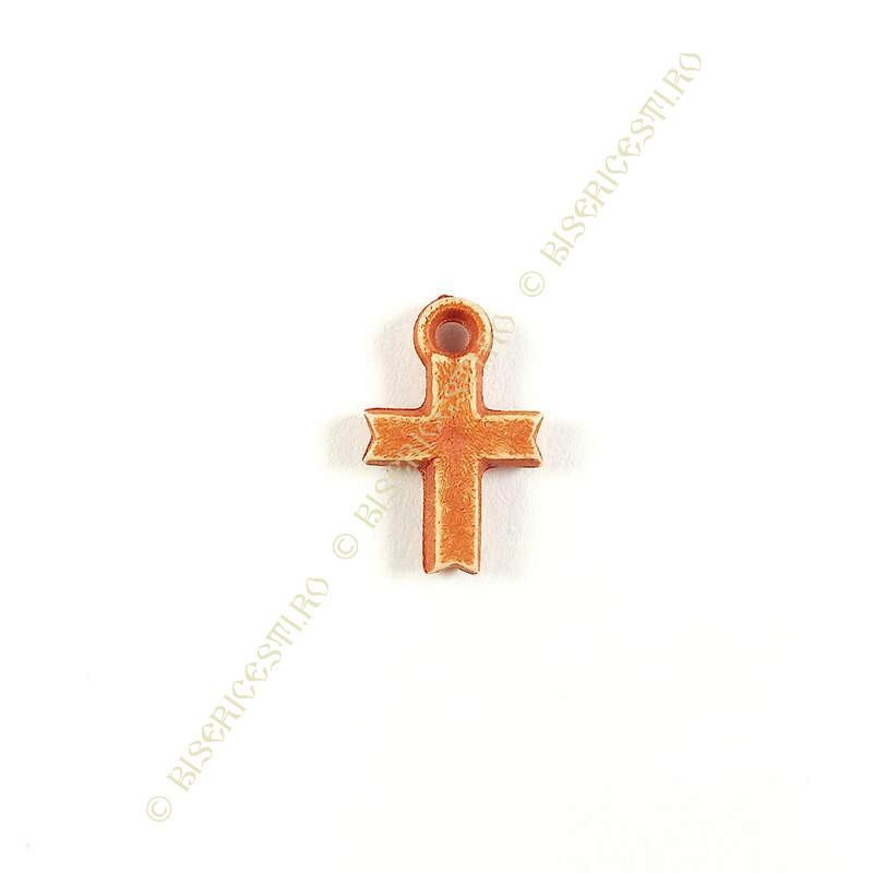Obiecte bisericesti   Medalion cruce de plastic 14mm   2089