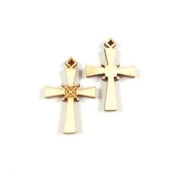 Obiecte bisericesti | Medalion cruce de lemn 30mm | 2092