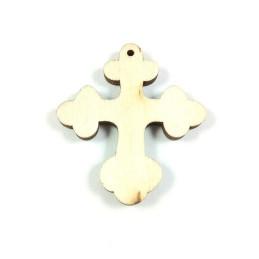 Obiecte bisericesti | Medalion cruce de lemn 40mm | 2093
