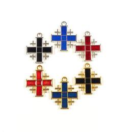 Obiecte bisericesti | Medalion cruce metalica aurie sau argintie 22mm | 2097