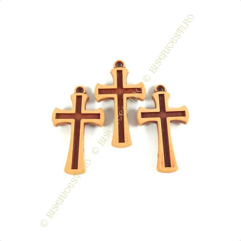 Obiecte bisericesti | Medalion cruce de plastic  45mm | 2104