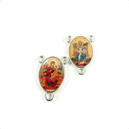 Obiecte bisericesti | Medalion icoana metalica argintie 20mm | 2106