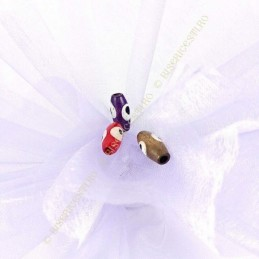 Obiecte bisericesti bile | Margele ovale de trecere 15mm | 6064