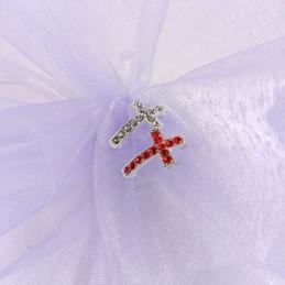 Obiecte bisericesti bile | Margele cruce de trecere 20mm | 6075