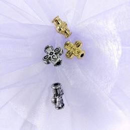 Obiecte bisericesti bile | Margele cruce de trecere 15mm | 6076