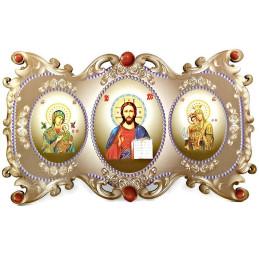 Obiecte bisericesti | Icoana Maicii Domnului | cu trei litografii | 4074