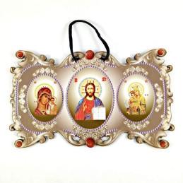 Obiecte bisericesti | Icoana Maicii Domnului | cu trei litografii | 4075