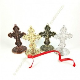 Obiecte bisericesti | Cruce pentru masa sau perete din metal | 5302