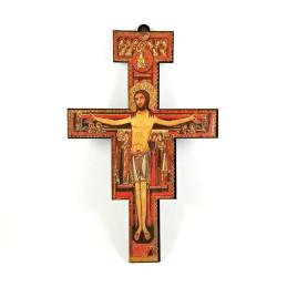Obiecte bisericesti | Cruce de perete pe suport din lemn | 5306