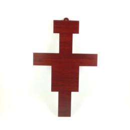 Obiecte bisericesti   Cruce de perete pe suport din lemn   5306