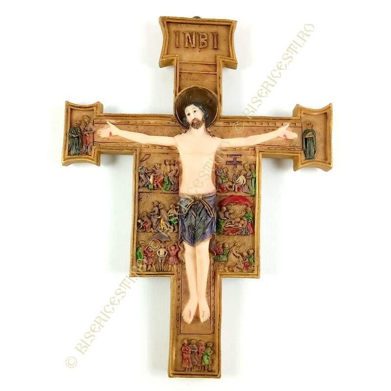 Obiecte bisericesti | Cruce de perete din rasina pictata | 5307
