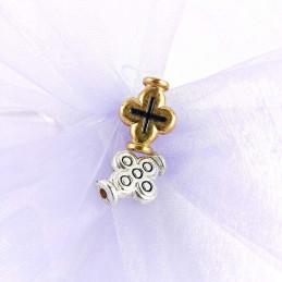 Obiecte bisericesti bile | Margele cruce de trecere 20mm | 6080