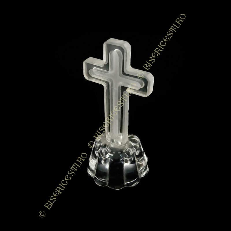 Obiecte bisericesti | Cruce pentru masa din sticla | 5309