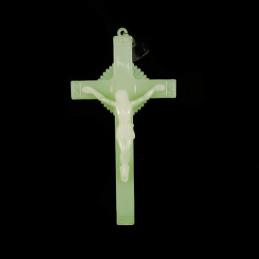 Obiecte bisericesti | Cruce auto din plastic fosforescent | 5314