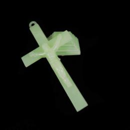 Obiecte bisericesti | Cruce pentru masa din plastic fosforescent | 5315
