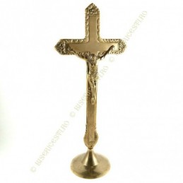 Obiecte bisericesti | Cruce pentru masa din metal auriu | 5318