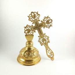 Obiecte bisericesti | Cruce binecuvantare din metal auriu | 5319