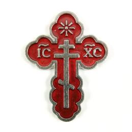 Obiecte bisericesti | Cruce de frigider din metal argintiu | 5325