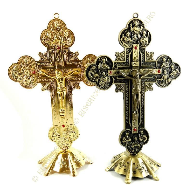 Obiecte bisericesti | Cruce pentru masa sau perete din metal | 5330