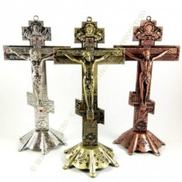 Obiecte bisericesti | Cruce pentru masa sau perete din metal | 5332