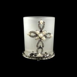 Obiecte bisericesti | Candela de masa din metal 75mm | 5101