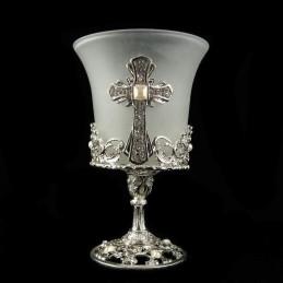 Obiecte bisericesti | Candela de masa din metal 135mm | 5104