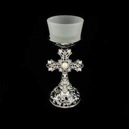 Obiecte bisericesti | Candela de masa din metal 15cm | 5108